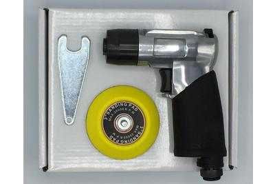 Polishing pneumatic sander with pad